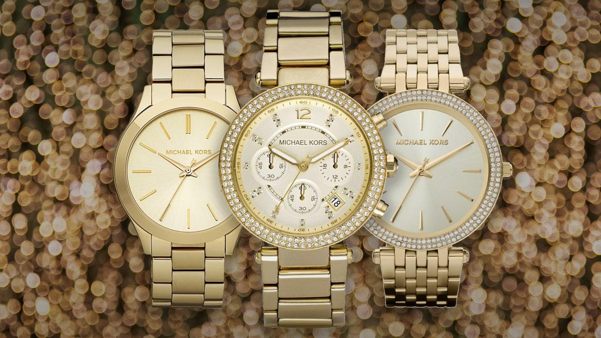 Najkrajšie zlaté dámske hodinky Michael Kors