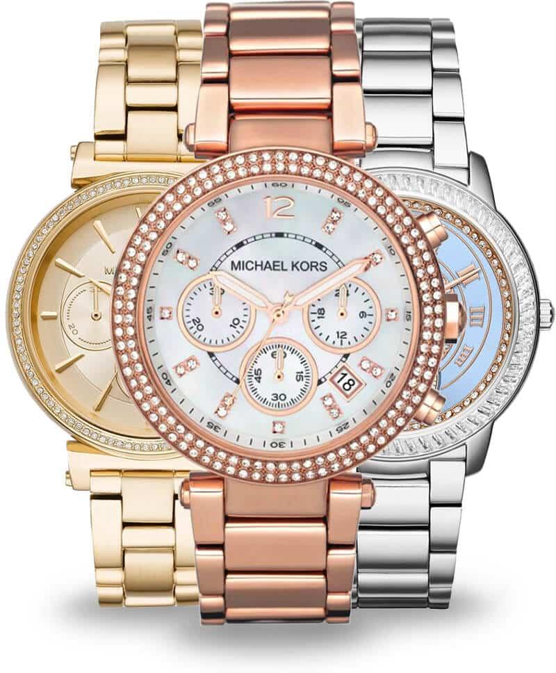 Zlaté a strieborné dámske hodinky Michael Kors