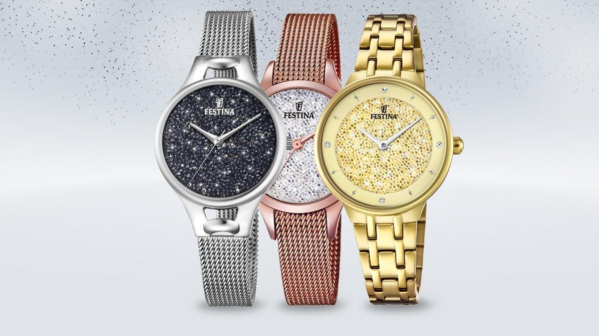 Dámske hodinky Festina Swarovski s kamienkami na ciferníku