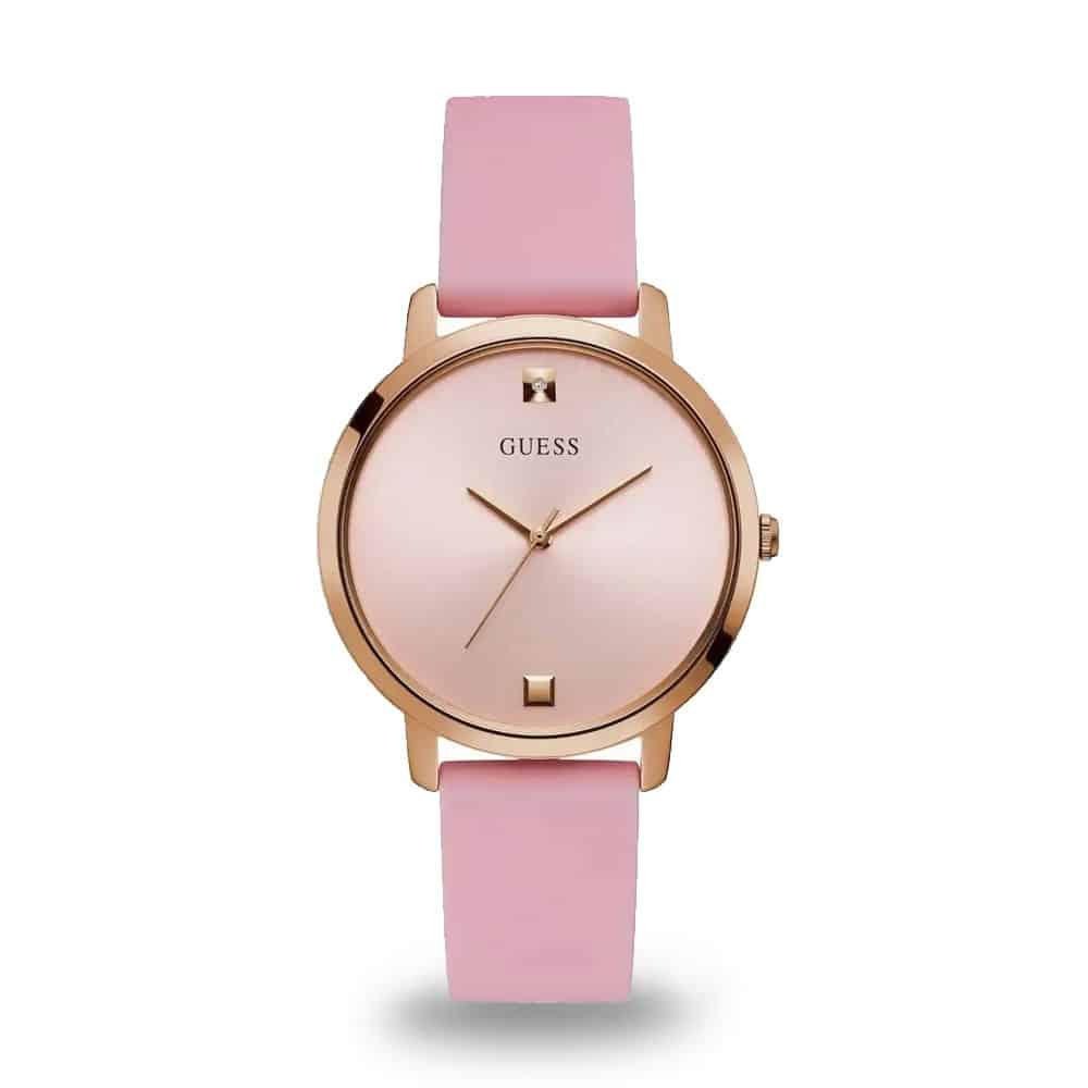 Ružové dámske hodinky Guess