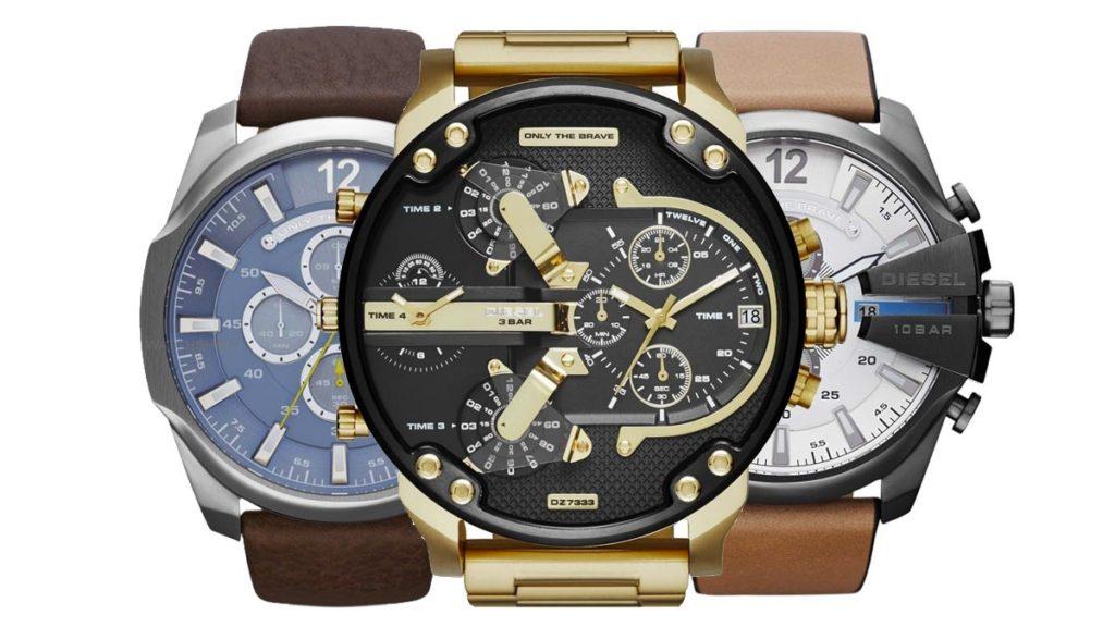 Veľké pánske hodinky Diesel