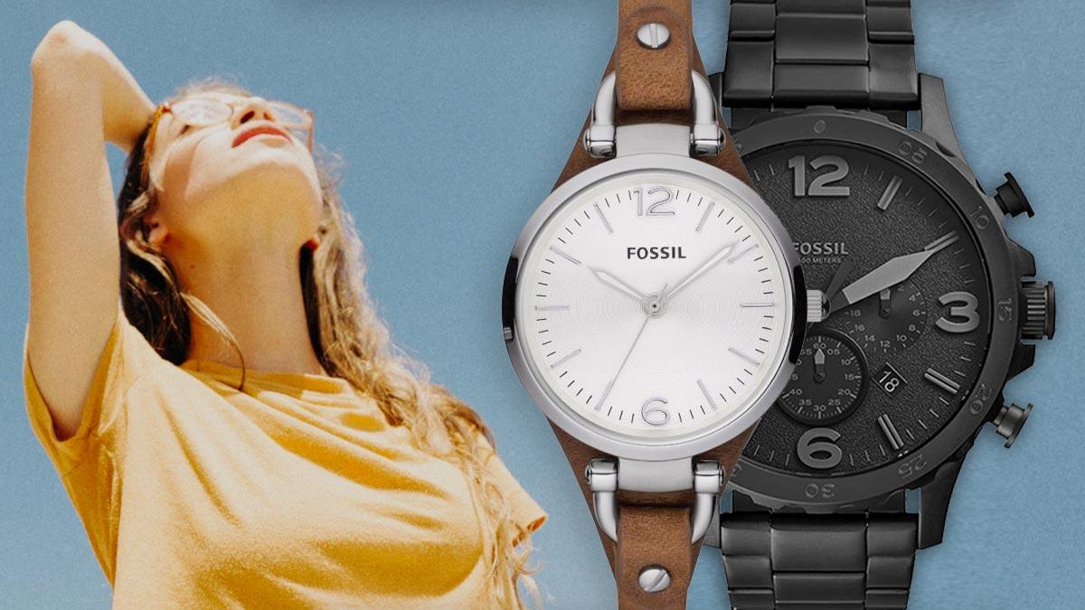 Štýlové vintage hodinky Fossil