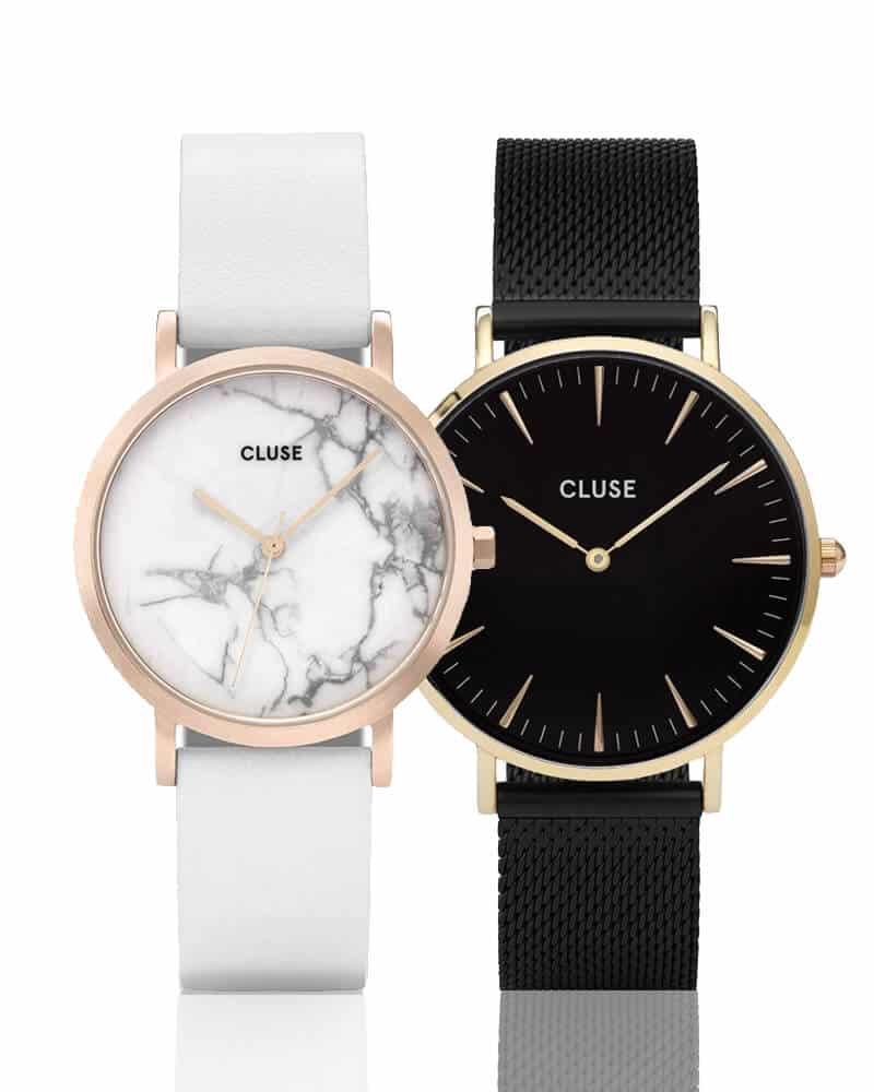 Dámske hodinky Cluse, ktoré sú známe vďaka svojim minimalistickým ciferníkom