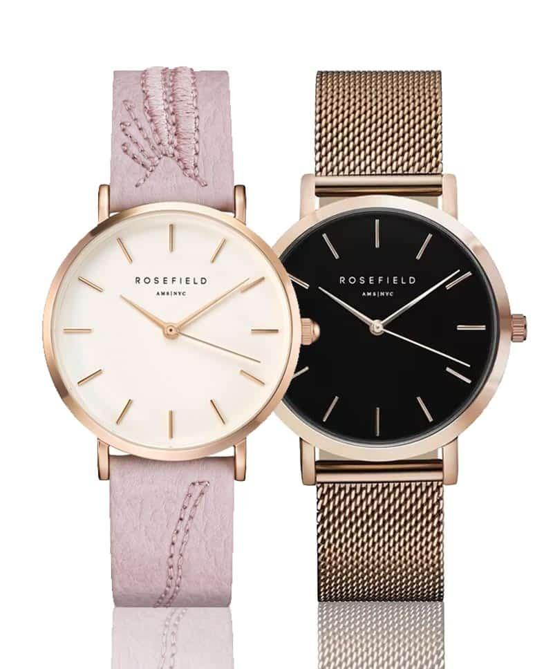 Jemné dámske hodinky Rosefield s minimalistickými ciferníkmi