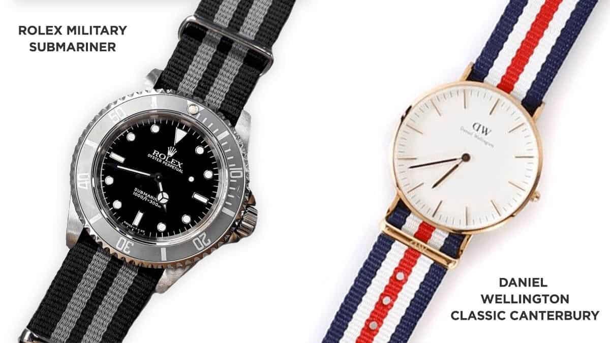 Textilný remienok hodiniek Rolex bol inšpiráciou pre dámske hodinky Daniel Wellington