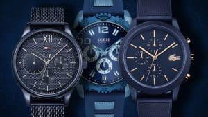 Modré hodinky pre pána sú netradičným kúskom hodiniek