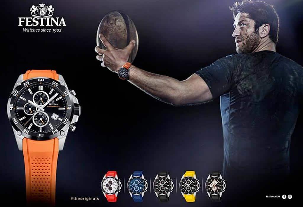 Gerard Butler v kampani pre športové hodinky Festina
