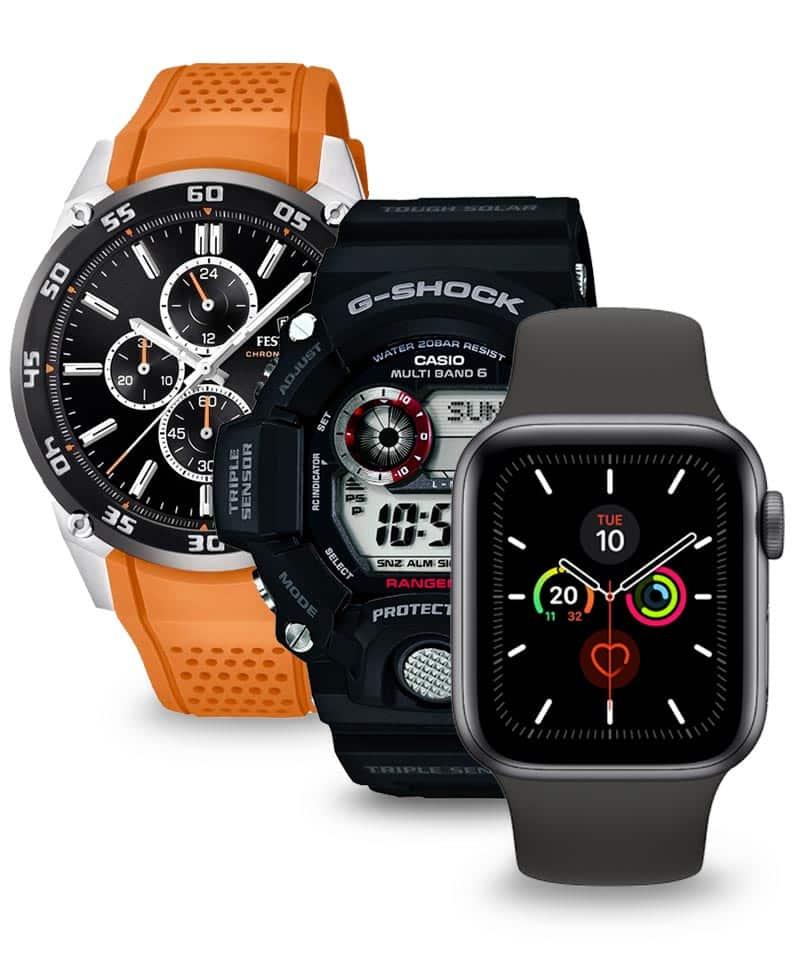 Hľadáte športové hodinky? Vyberať môžete medzi odolnými hodinkami Casio G-Shock, alebo smarthodinkami od Apple, Garmin, Suunto a veľa ďalších.