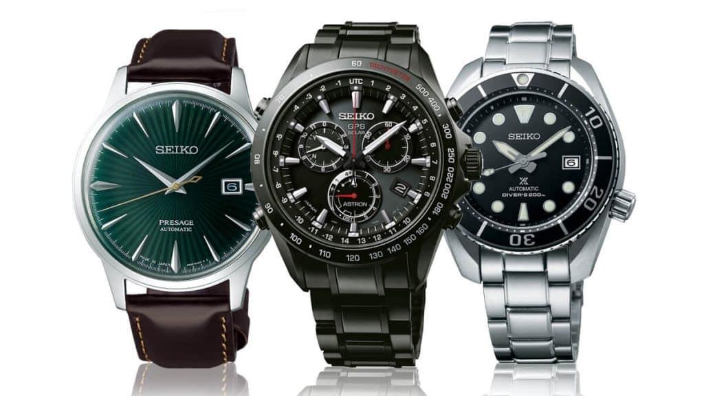 Pánske náramkové hodinky značky Seiko