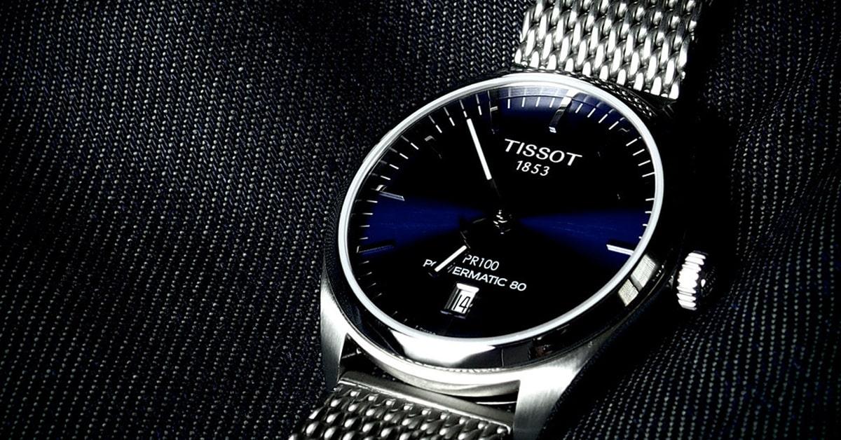 Elegantné švajčiarske hodinky Tissot z nehrdzavejúcej ocele