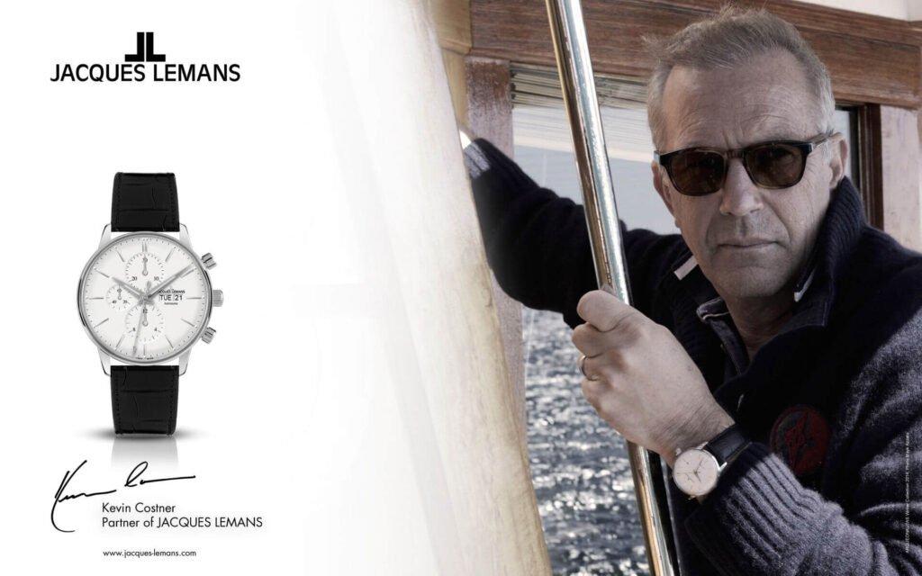 Jacques Lemans a bývalá tvár značky - herec Kevin Costner