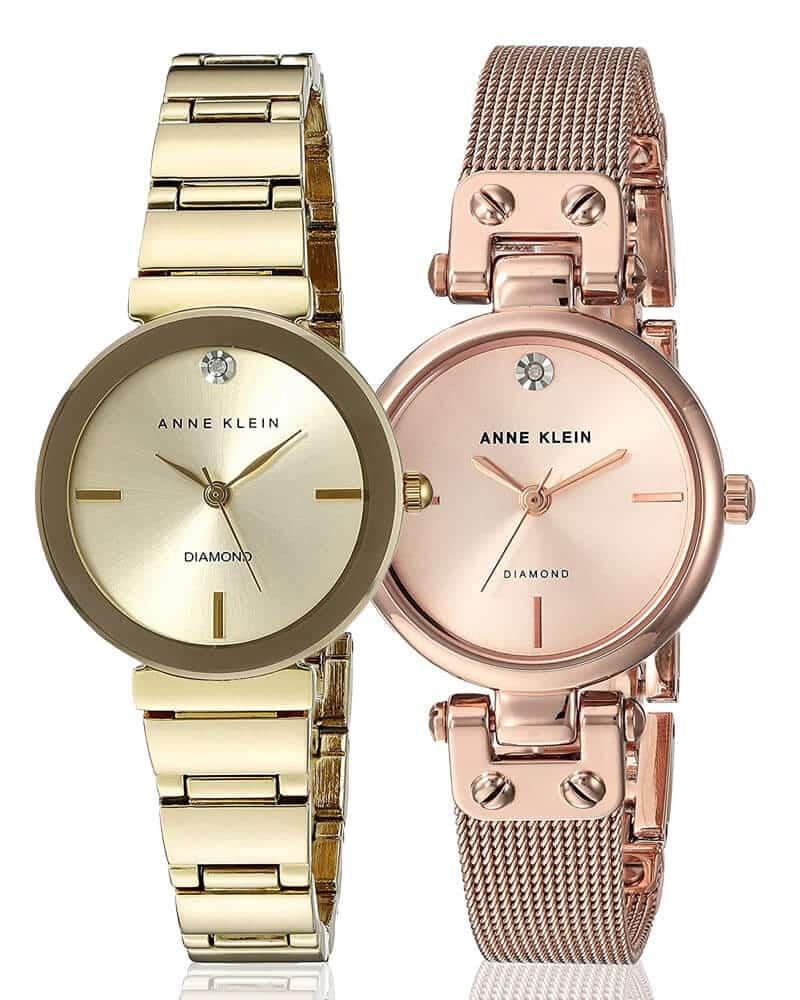 Dámske hodinky Anne Klein v zlatej a ružovozlatej farbe