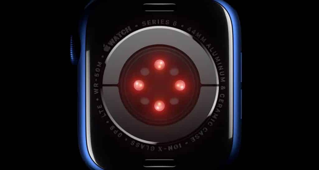 Optický senzor z Apple Watch Series 6