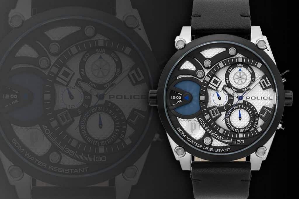 Extravagantné veľké pánske hodinky Police