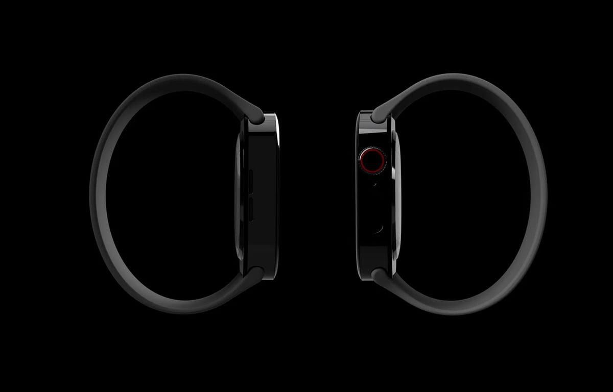 Koncept hodiniek Apple Watch 7 s hranatým dizajnom