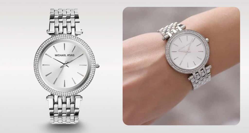 Nadčasové strieborné dámske hodinky Michael Kors MK3190