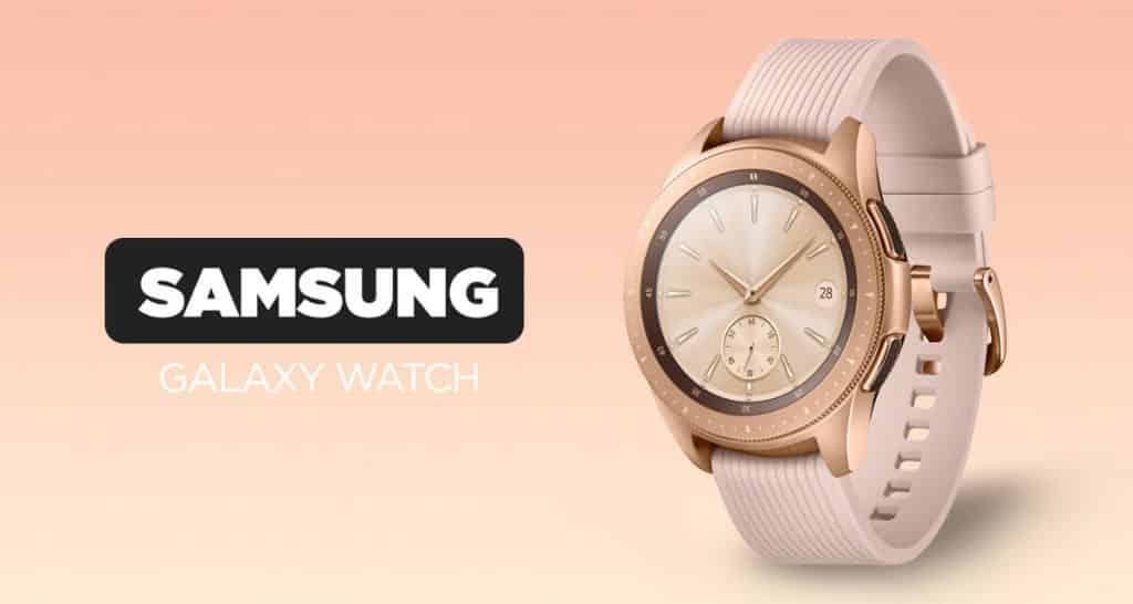 Pútavé dámske smart hodinky Samsung Galaxy Watch v ružovo zlatom prevedení