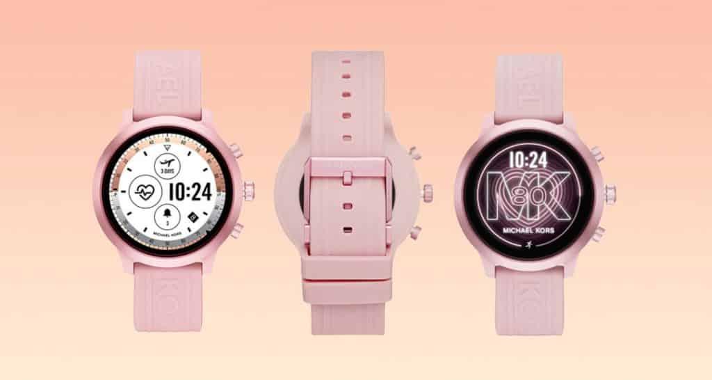 Ružové dámske smart hodinky Michael Kors