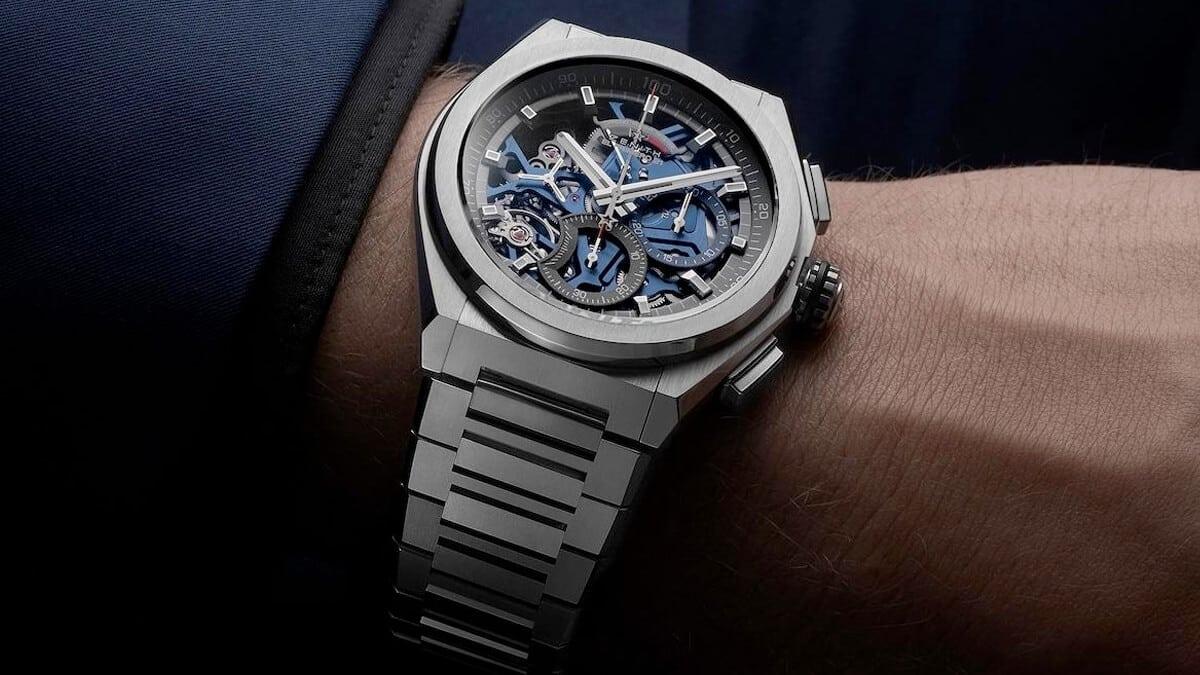 Švajčiarske hodinky značky Zenith s typickým hranatým dizajnom
