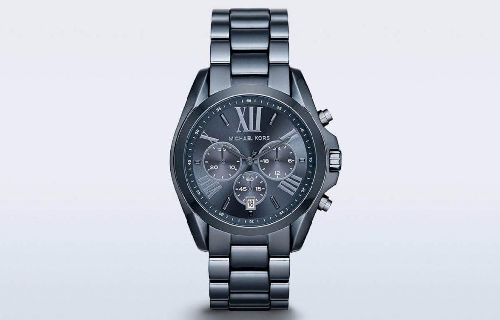 Tmavomodré pánske hodinky Michael Kors