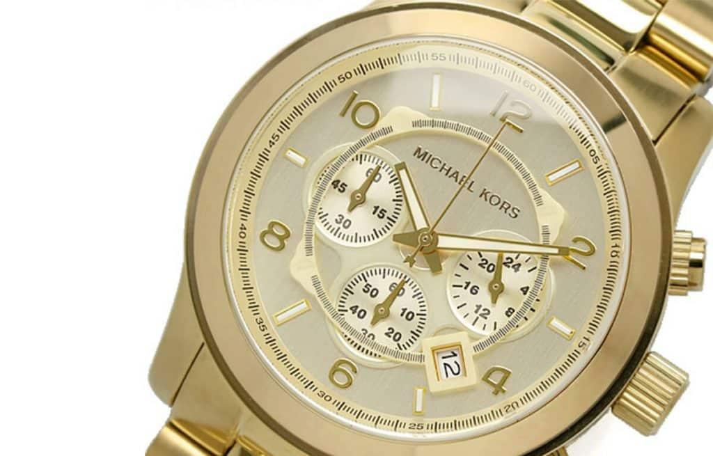 Masívne zlaté pánske hodinky Michael Kors MK8086