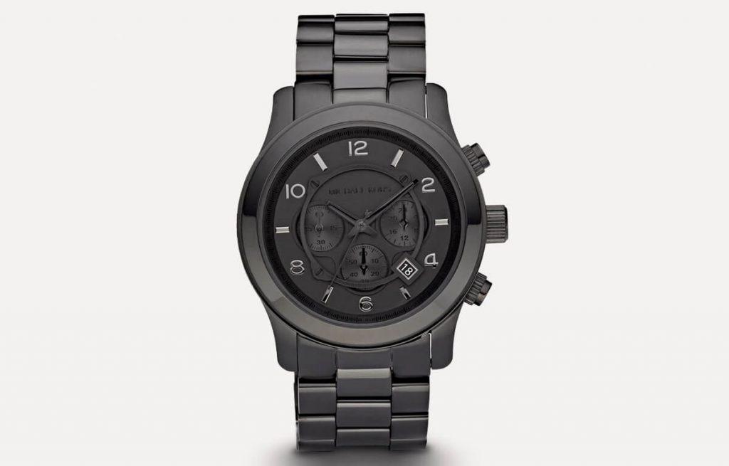 Čierne pánske hodinky Michael Kors MK6248