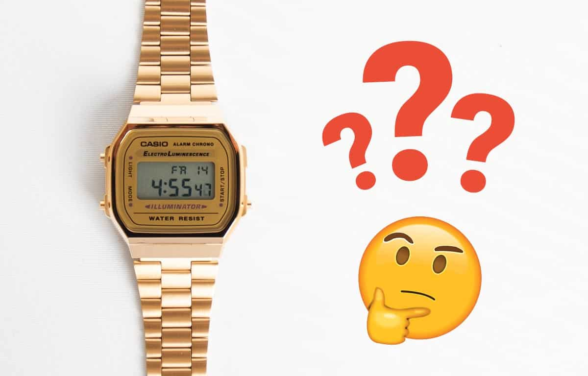 Nastavenie času v hodinkách Casio Vintage