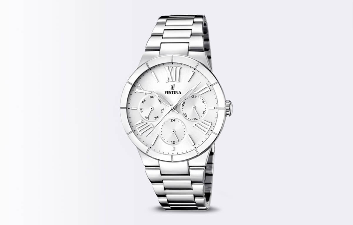 Strieborné hodinky Festina Mademoiselle