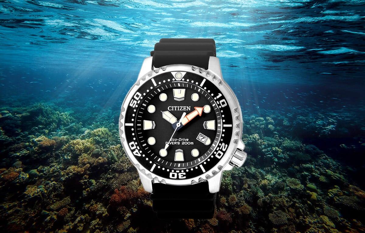 Štýlové potápačské hodinky Citizen BN0150-10E so silikónovým remienkom