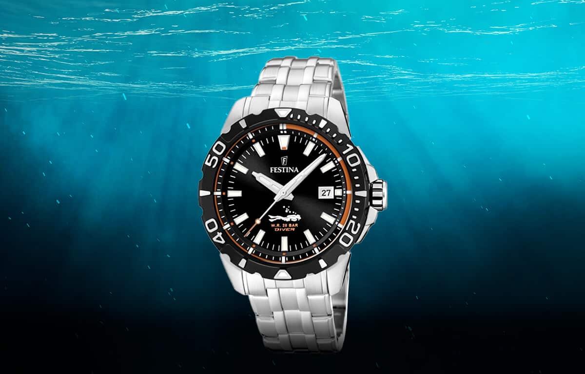 Lacné pánske potápačské hodinky Festina The Originals Divers