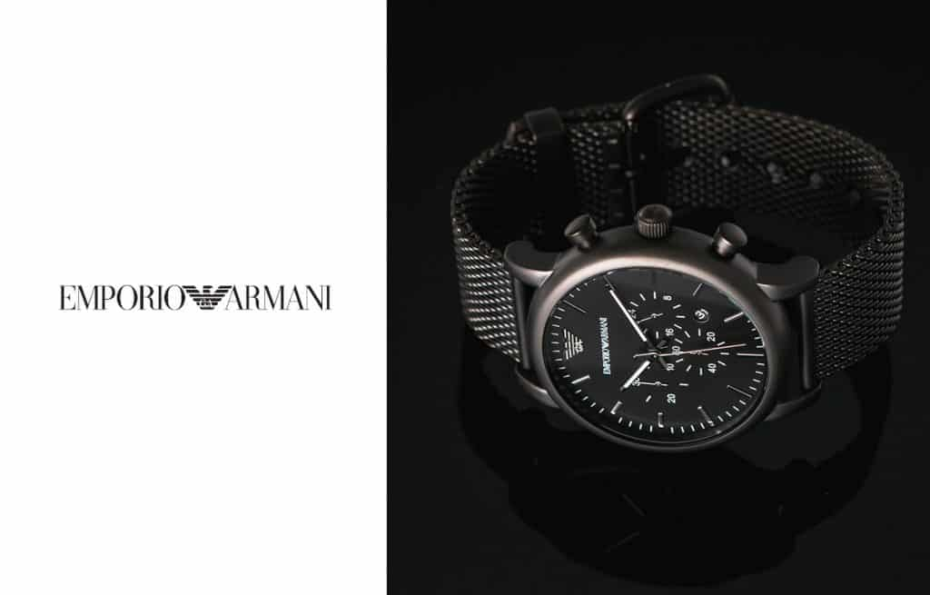 Pánske hodinky Emporio Armani v elegantnej čiernej