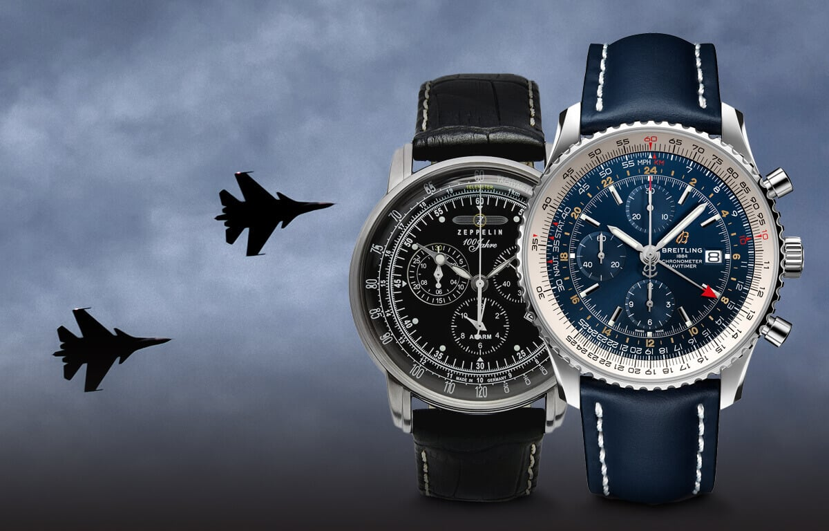 Vybrali sme tie najznámejšie značky leteckých hodiniek - značky Longines, Breitling, Zeppelin, Vostok Europe