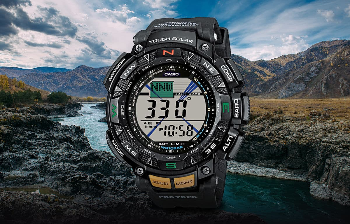 Multifunkčné outdoor hodinky z edície Casio Pro Trek