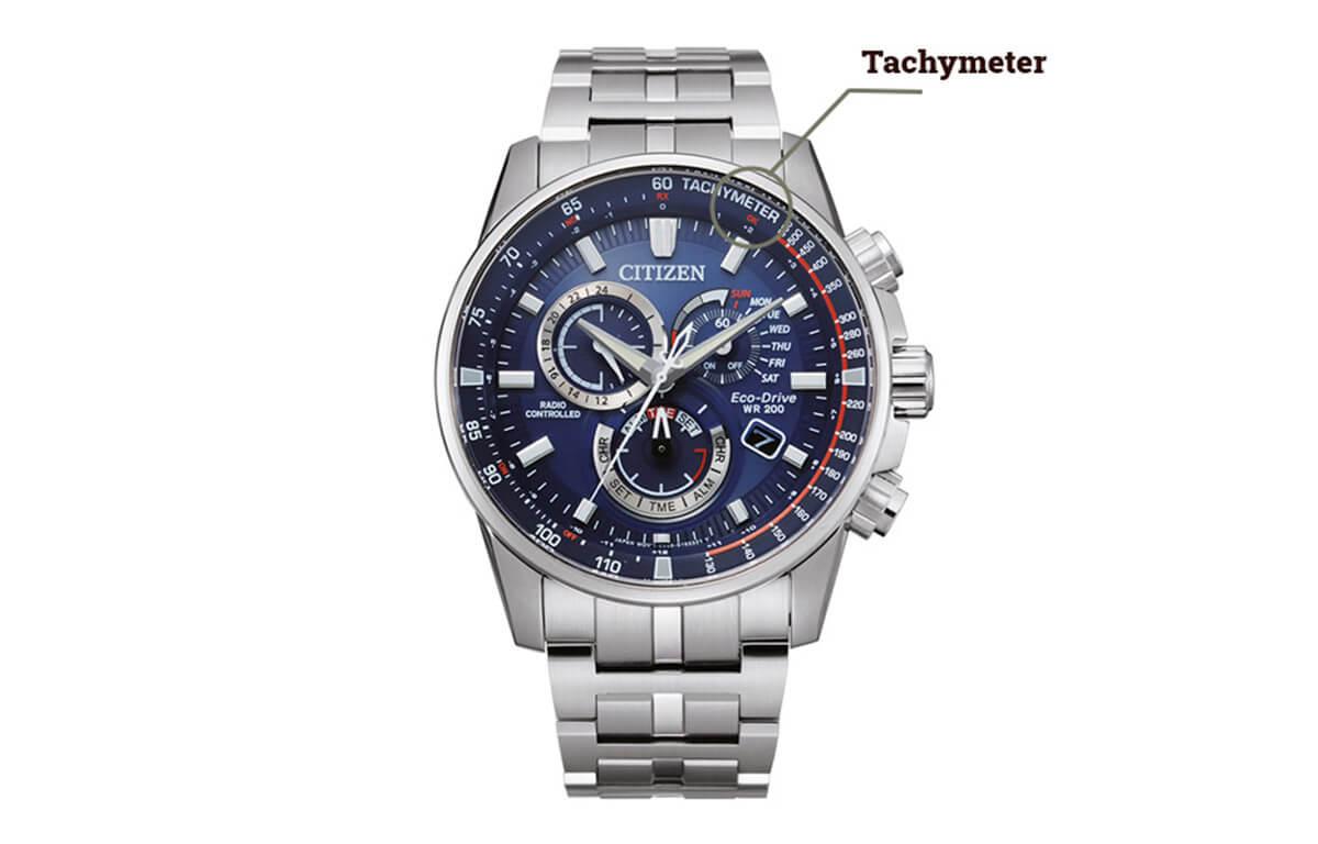 Tachymeter na hodinkách Citizen