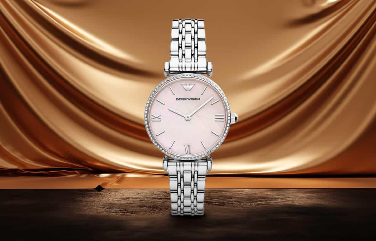 Strieborné dámske hodinky Emporio Armani
