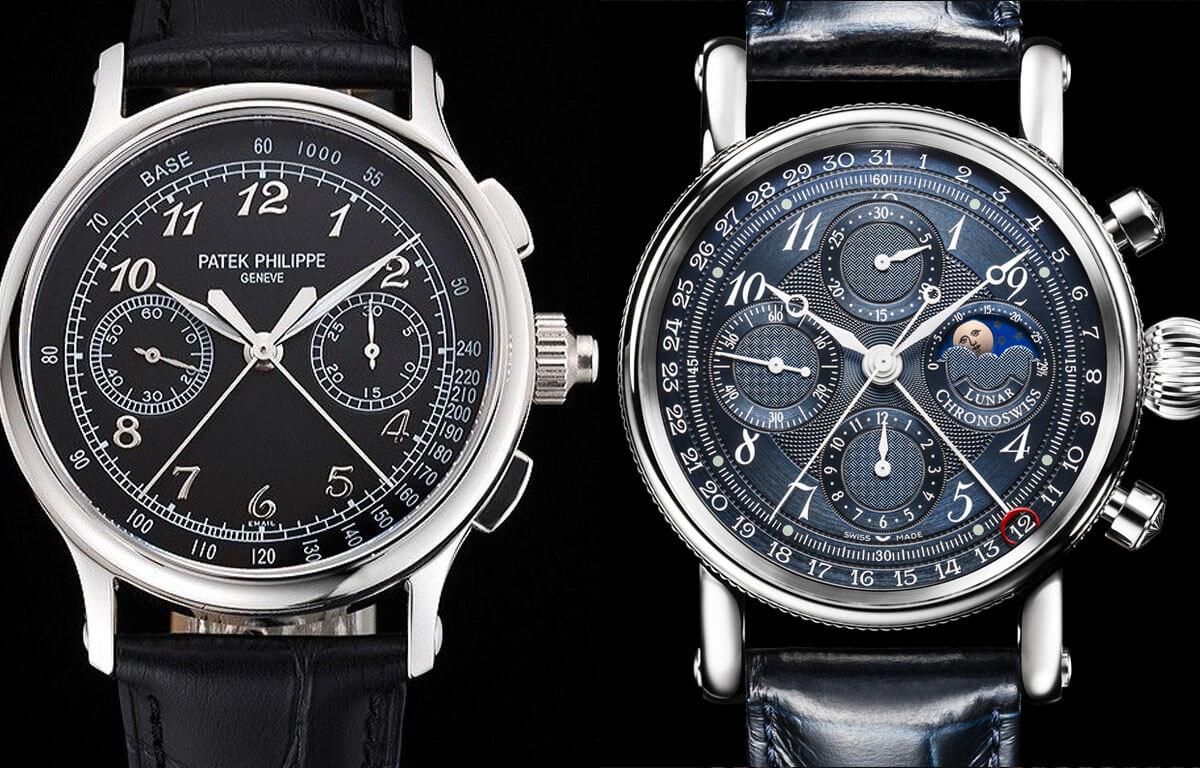 Počet chronografov sa môže pri jednotlivom type hodiniek líšiť