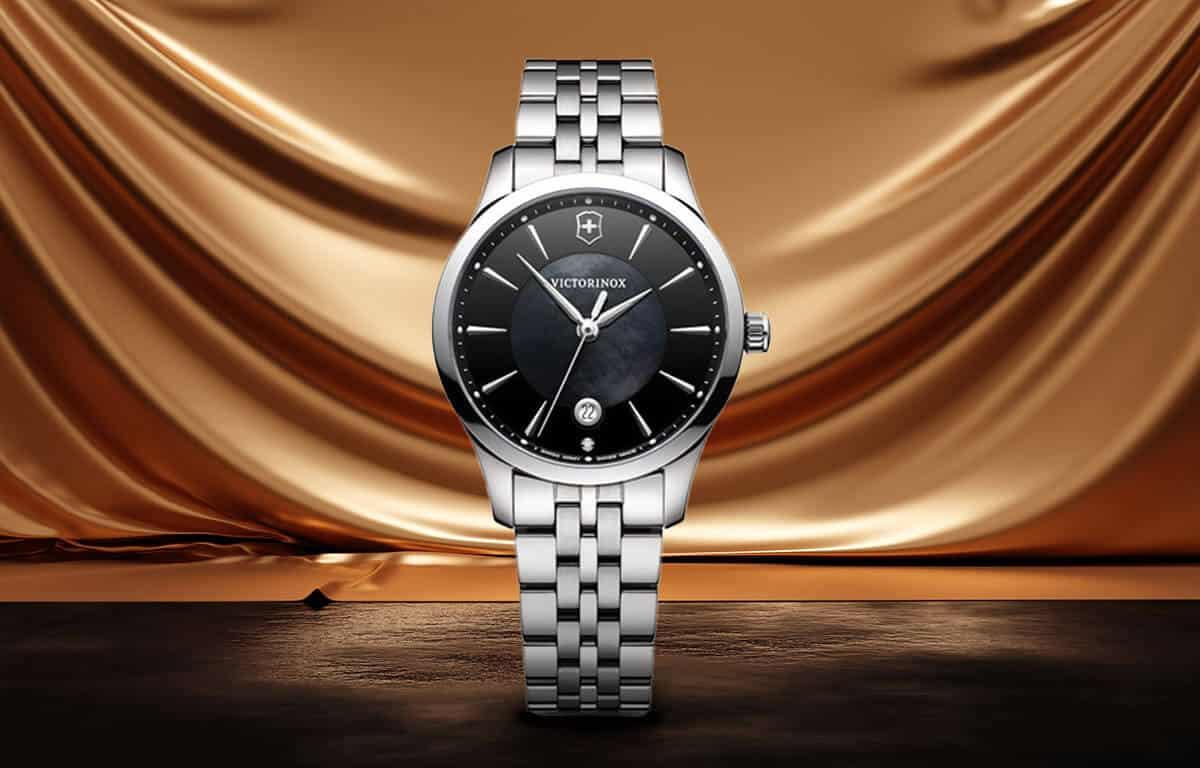 Luxusné dámske hodinky Victorinox s čiernym ciferníkom