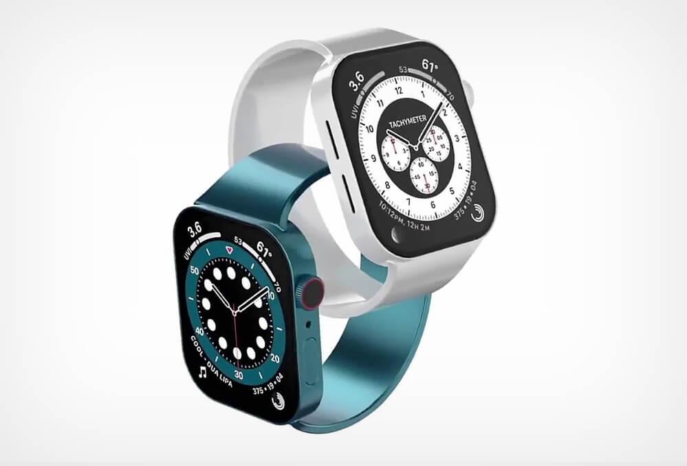 Renderové snímky - Apple Watch 7 / Matt Talks Tech