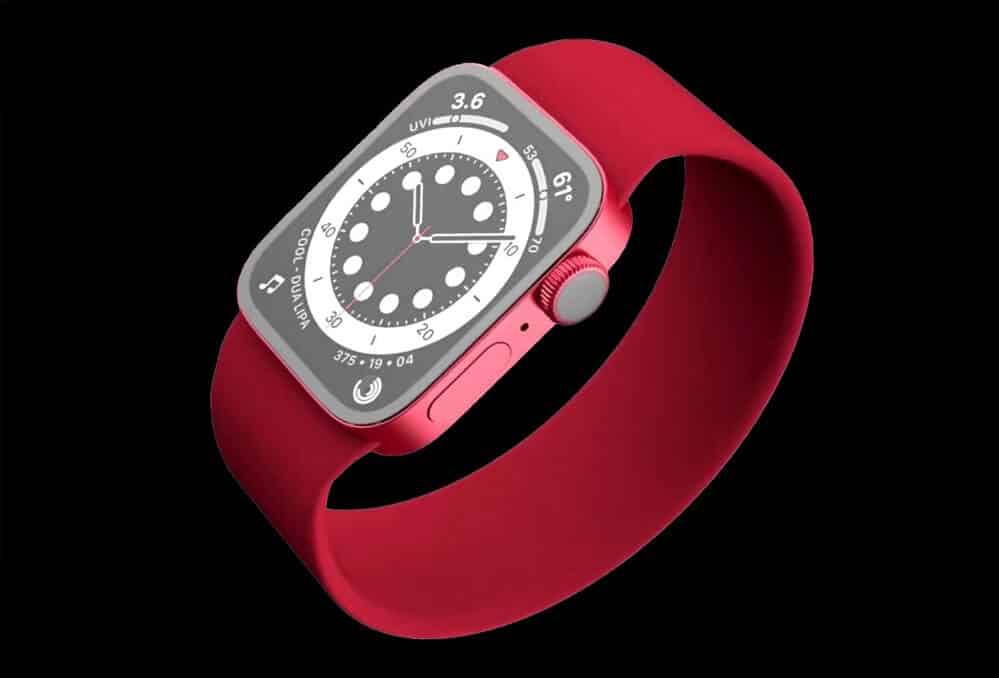 Renderové snímky - Apple Watch 7 red / Matt Talks Tech