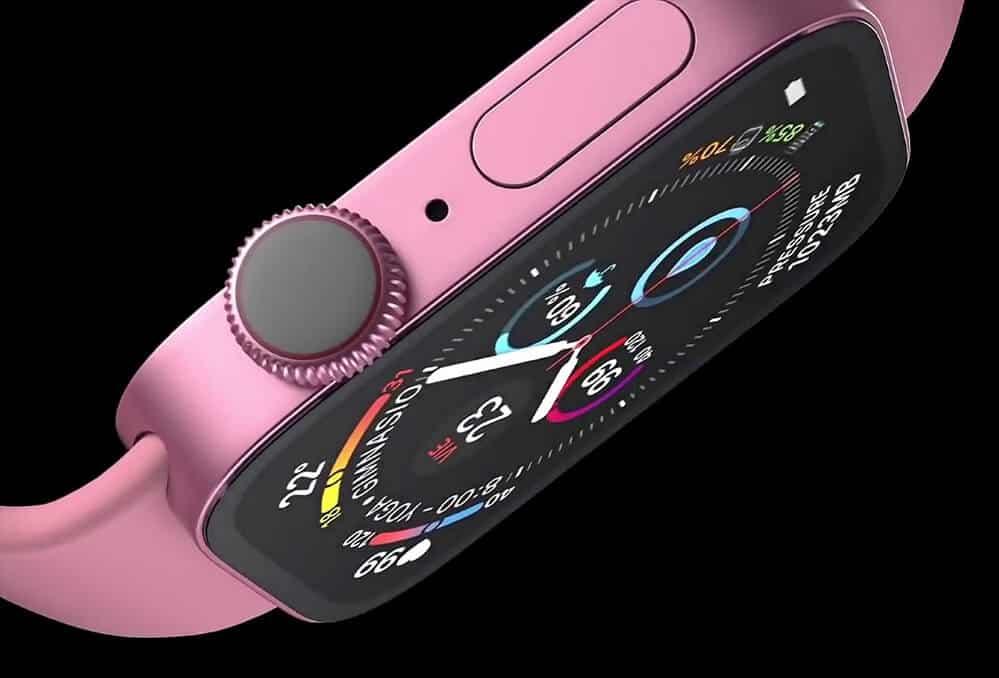 Renderové snímky - Apple Watch 7 pink / Matt Talks Tech