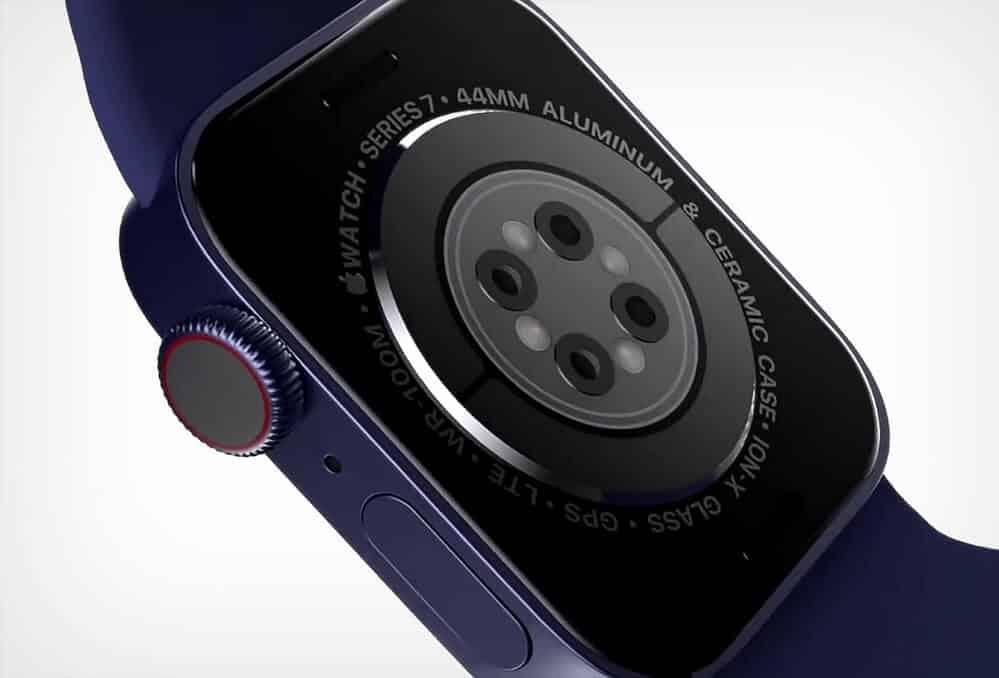 Renderové snímky - Apple Watch 7 senzor / Matt Talks Tech