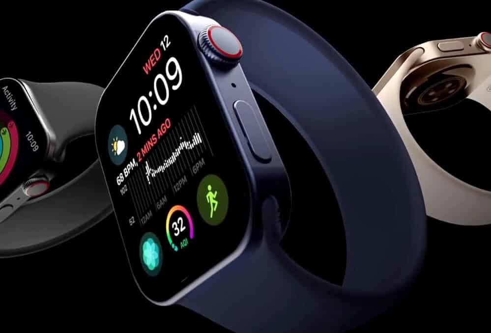 Renderové snímky - Apple Watch 7 blue / Matt Talks Tech