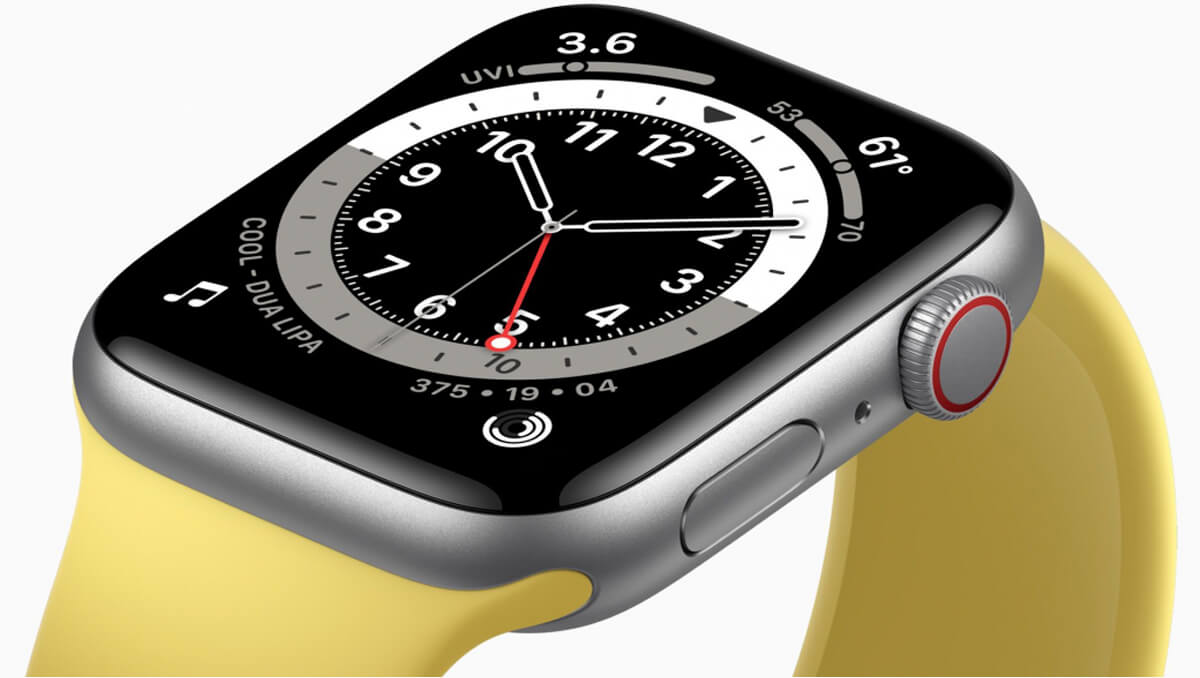 Apple Watch SE - SIlver + Yellow band
