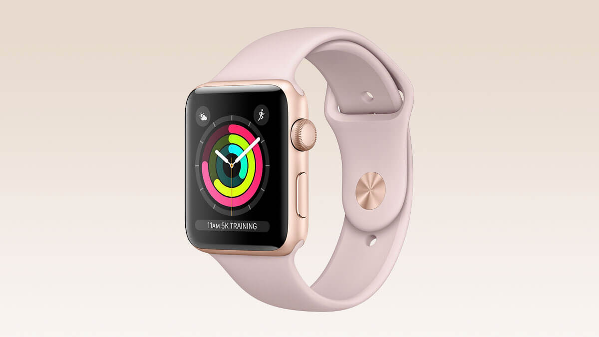 Inteligentné hodinky Apple Watch vo farbe Rose Gold