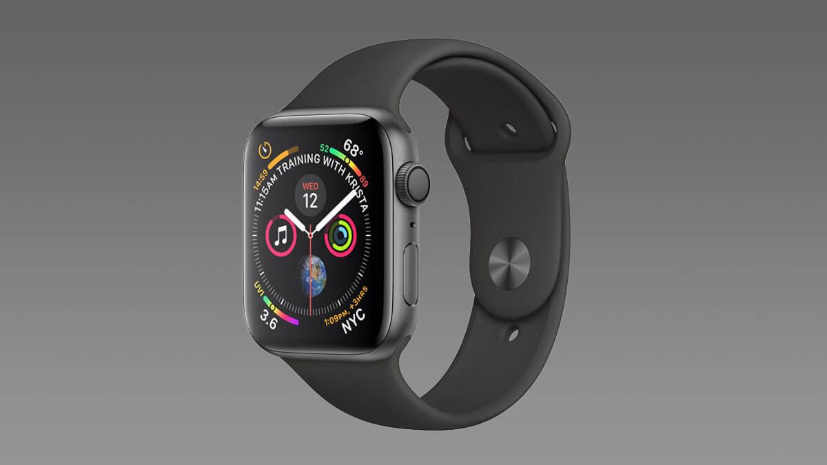 Smart hodinky Apple Watch 4 v čiernom prevedení