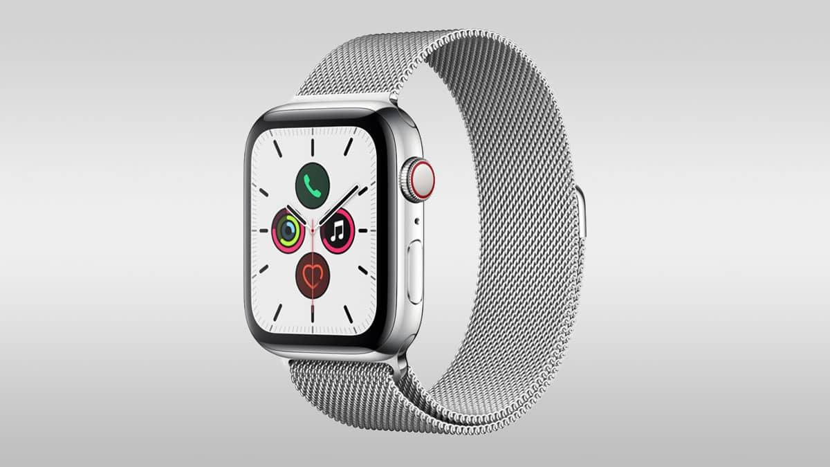 Smartwatch Apple Watch 5 so shark mesh remienkom
