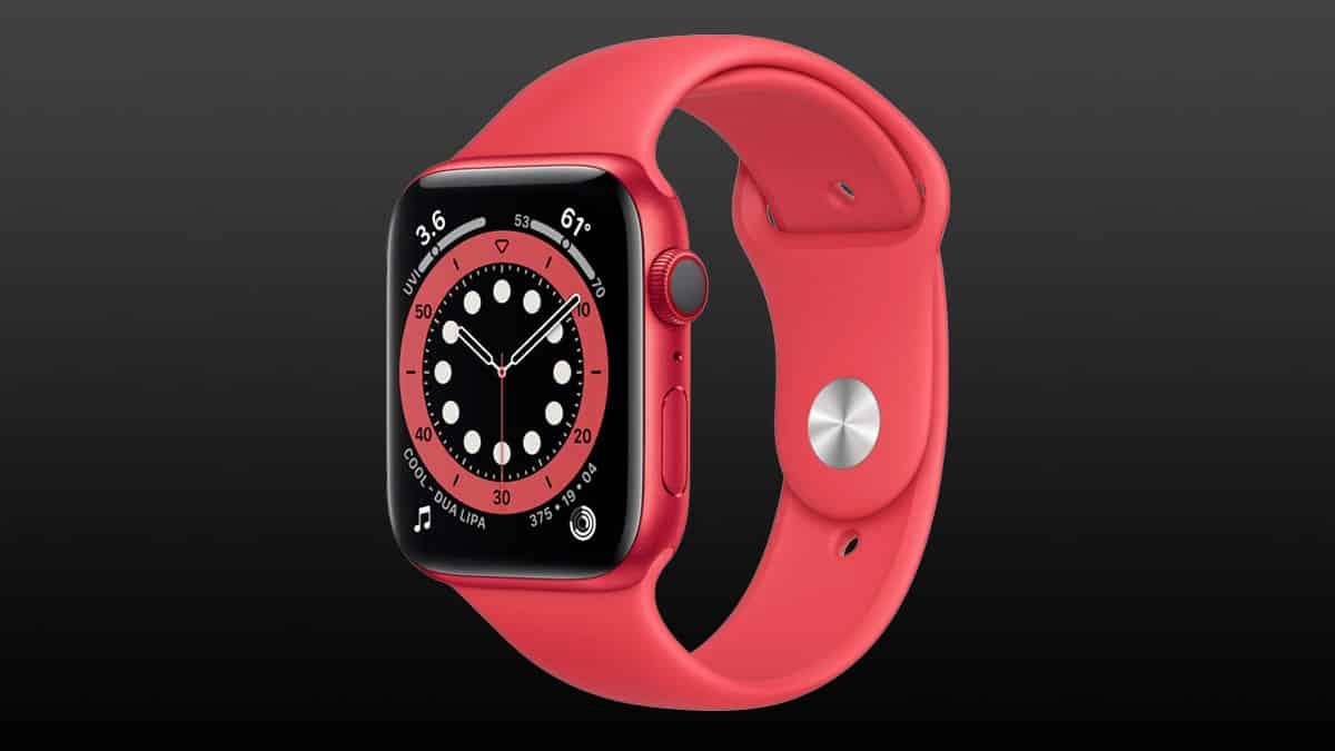 Smart hodinky Apple Watch 6 v červenom prevedení (44 mm)