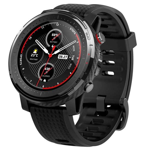 Čierne smart hodinky Amazfit Stratos 3
