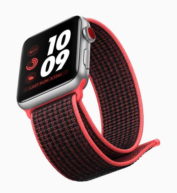 Apple Watch Series 3 vo farbe Silver