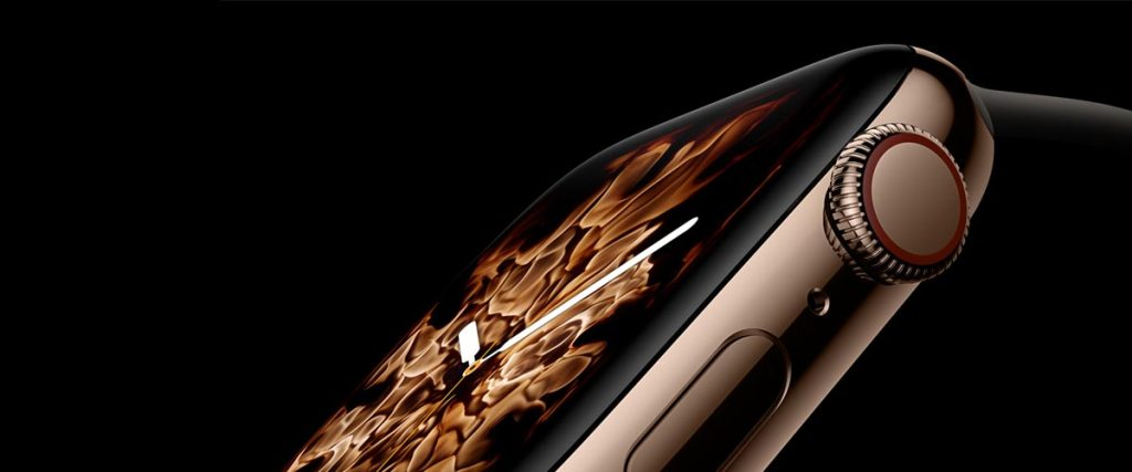 Zlaté smart hodinky Apple Watch 4
